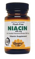 DROPPED: Country Life - Flush Free Niacin Caps Inositol Hexanicotinate 500 mg. - 30 Capsules