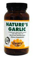 DROPPED: Country Life - Nature's Garlic 500 mg. - 90 Softgels