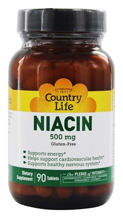 Country Life - Niacin 500 mg. - 90 Tablets