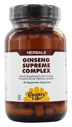 Country Life - Ginseng Supreme Complex Balanced Energy - 60 Vegetarian Capsules LUCKY DEAL