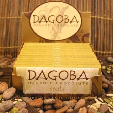 DROPPED: Dagoba Organic Chocolate - Organic Chocolate Bar Hemp, Pumpkin & Sunflower - 2 oz.