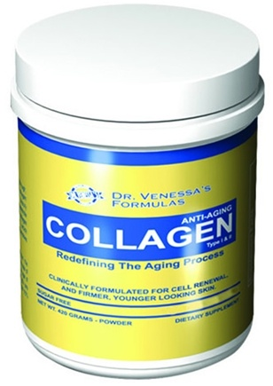 DROPPED: Dr. Venessa's Formulas - Premium Collagen Type I & II Powder - 255 Grams CLEARANCE PRICED