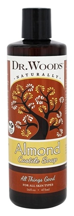 DROPPED: Dr. Woods - All Natural Eco-Friendly Castile Soap Pure Almond - 16 oz. CLEARANCE PRICED