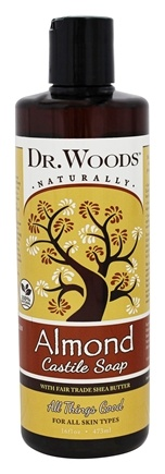 DROPPED: Dr. Woods - Shea Vision Castile Soap With Organic Shea Butter Pure Almond - 16 oz. CLEARANCE PRICED