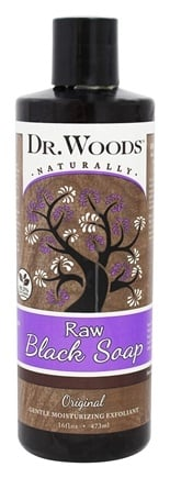 DROPPED: Dr. Woods - All Natural Eco-Friendly Castile Soap Pure Black Soap - 16 oz. CLEARANCE PRICED