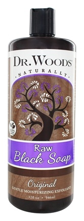 Dr. Woods - All Natural Eco-Friendly Castile Soap Pure Black Soap - 32 oz.