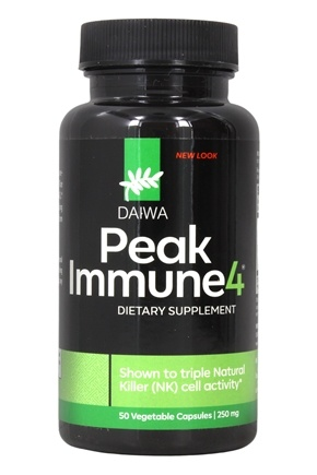Daiwa Health Development - Peak Immune 4 250 mg. - 50 Vegetarian Capsules