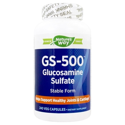 Enzymatic Therapy - GS-500 Glucosamine Sulfate - 240 Capsules