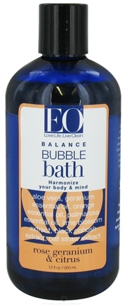 DROPPED: EO Products - Bubble Bath Balance Rose Geranium & Citrus - 12 oz.