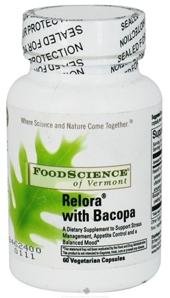 DROPPED: FoodScience of Vermont - Relora with Bacopa - 60 Capsules Contains Magnolia Bark CLEARANCE PRICED