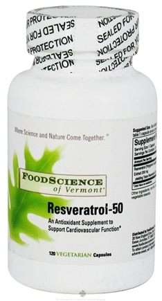 DROPPED: FoodScience of Vermont - Resveratrol-50 200 mg. - 120 Capsules CLEARANCE PRICED