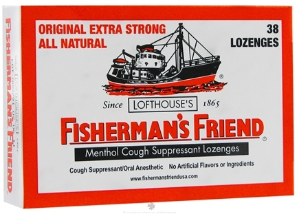 DROPPED: Fisherman's Friend - Menthol Cough Suppressant Original Extra Strong - 38 Lozenges