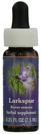 DROPPED: Flower Essence Services - Larkspur Flower Essence - 0.25 oz. CLEARANCE PRICED