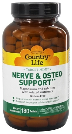 Country Life - Target-Mins Nerve and Osteo Support - 180 Vegetarian Tablets