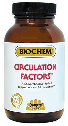 DROPPED: BioChem by Country Life - Circulation Factors - 50 Tablets