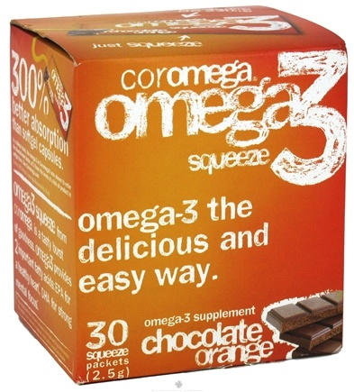 DROPPED: Coromega - Omega-3 Squeeze Orange with a Hint of Chocolate - 30 Packet(s) CLEARANCE PRICED