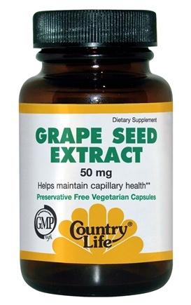 DROPPED: Country Life - Grape Seed Extract 50 mg. - 50 Vegetarian Capsules CLEARANCE PRICED