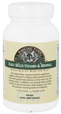 DROPPED: Dancing Paws - Feline Multi Vitamin & Minerals - 90 Capsules