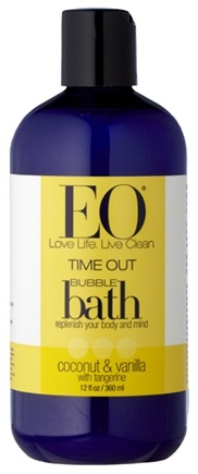 DROPPED: EO Products - Bubble Bath Timeout Vanilla & Coconut with Tangerine - 12 oz. CLEARANCE PRICED