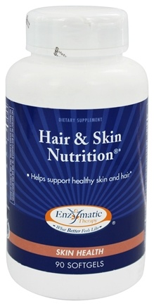 DROPPED: Enzymatic Therapy - Hair & Skin Nutrition - 90 Softgels