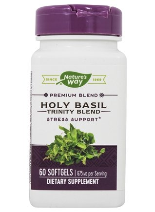 Enzymatic Therapy - Holy Basil Trinity Blend - 60 Softgels