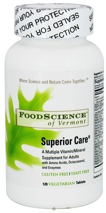 DROPPED: FoodScience of Vermont - Superior Care - 120 Tablets CLEARANCE PRICED