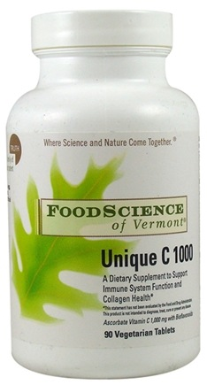 DROPPED: FoodScience of Vermont - Unique C 500 & 1000 - 90 Tablets
