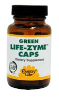 DROPPED: Country Life - Green Life-Zyme Caps - 60 Tablets