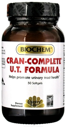 DROPPED: Biochem by Country Life - Cran-Complete Formula - 50 Softgels