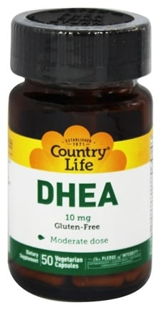 Country Life - DHEA Dehydroepiandrosterone 10 mg. - 50 Vegetarian Capsules Formerly by Biochem