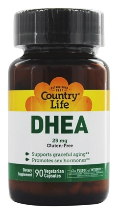 Country Life - DHEA Dehydroepiandrosterone 25 mg. - 90 Vegetarian Capsules Formerly Biochem