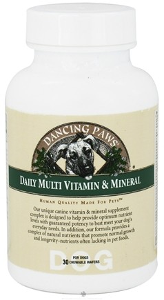 DROPPED: Dancing Paws - Multi Vitamin & Minerals For Dogs - 30 Wafers CLEARANCE PRICED
