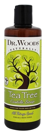 DROPPED: Dr. Woods - Shea Vision Castile Soap With Organic Shea Butter Pure Tea Tree - 16 oz. CLEARANCE PRICED