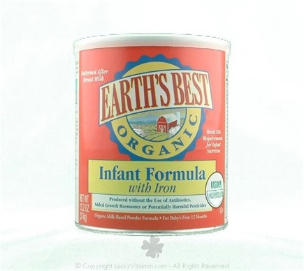DROPPED: Earth's Best - Infant Formula with Iron - 13.2 oz.