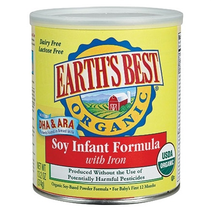 DROPPED: Earth's Best - Organic Soy Infant Formula - 13.2 oz.