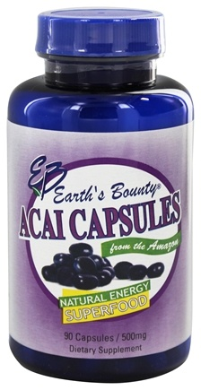 Earth's Bounty - Acai Capsules Natural Energy Superfood - 90 Capsules