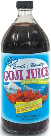 DROPPED: Earth's Bounty - Goji Juice Anti-Aging Superfood (Glass Container) - 1 Liter