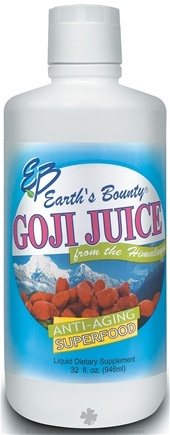 DROPPED: Earth's Bounty - Goji Juice Anti-Aging Superfood (Plastic Container) - 1 Liter(s)