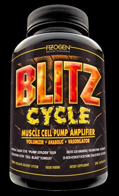DROPPED: Fizogen - Blitz Cycle - Muscle Cell Pump Amplifier - 200 Capsules