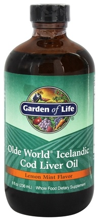 Garden of Life - Olde World Icelandic Cod Liver Oil Lemon Mint - 8 oz.