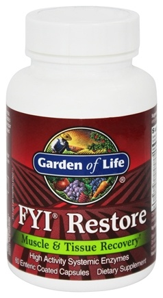 Garden of Life - FYI Restore Muscle and Tissue Recovery - 60 Capsules