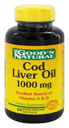 Good 'N Natural - Cod Liver Oil 1000 mg. - 60 Softgels