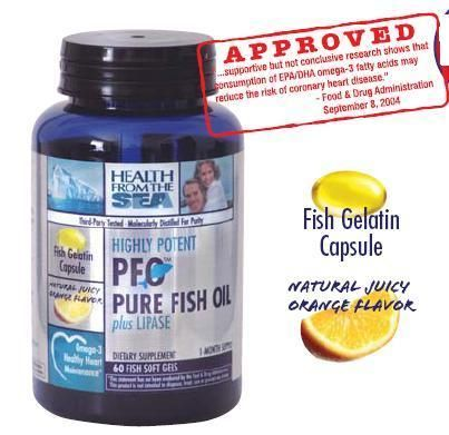 DROPPED: Health From The Sun - Highly Potent PFO plus Lipase - 60 Fish Softgel(s)