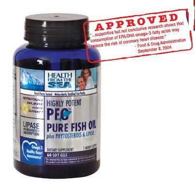 DROPPED: Health From The Sun - Highly Potent PFO plus Phytosterols & Lipase - 60 Softgels