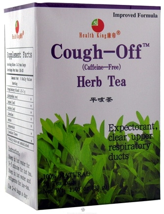 DROPPED: Health King - Cough-Off Herb Tea - 20 Tea Bags