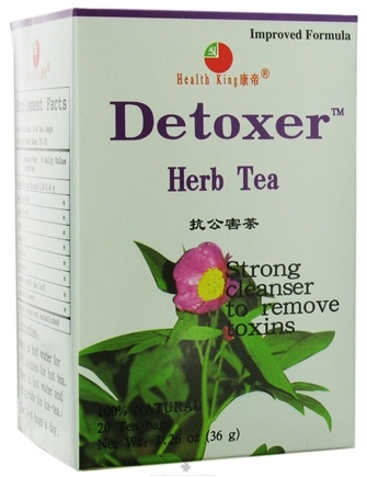 DROPPED: Health King - Detoxer Herb Tea - 20 Tea Bags