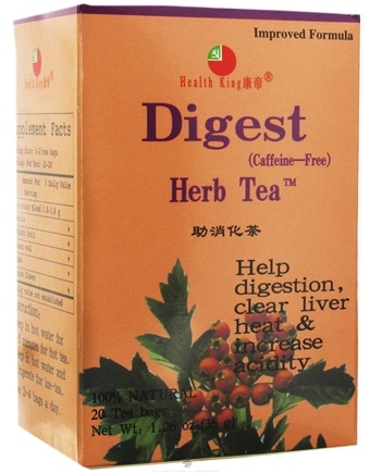 DROPPED: Health King - Digest Herb Tea - 20 Tea Bags CLEARANCE PRICED
