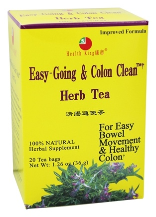 Health King - Easy-Going & Colon Clean Herb Tea - 20 Tea Bags