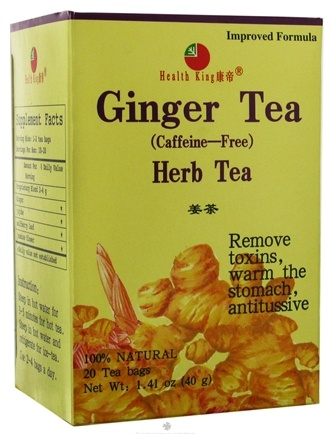 DROPPED: Health King - Ginger Herb Tea - 20 Tea Bags CLEARANCE PRICED