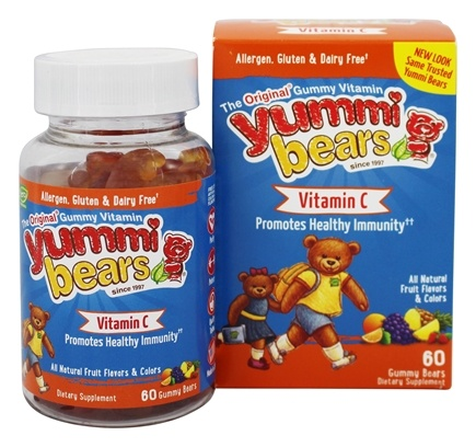 DROPPED: Hero Nutritional Products - Yummi Bears Children's Vitamin C - 60 Gummies